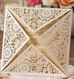 Customized laser cut lace classical wedding by BakersMoldSupply