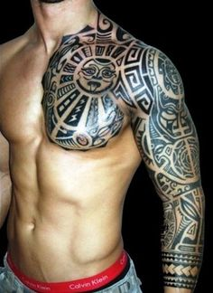 hmmmm can i mix japanese and maori tattoos! aclougher hmmmm can i mix japanese and maori tattoos! hmmmm can i mix japanese and maori tattoos! Tattoo Arm Mann, Hawaiianisches Tattoo, Tattoo Motive, Samoan Tattoo, Tattoo Maori, Sick Tattoo, Thai Tattoo, Man Arm Tattoo, Totem Tattoo