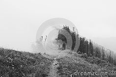 Photo about Mountain crest with dense fog in black and white. Image of crest, alps, steep - 74123812 Dense Fog, Alps, Mountain, Stock Photos, Celestial, Black And White, Photography, Outdoor, Image