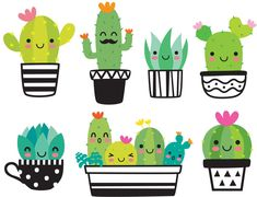 Cute succulent or cactus plant with happy face vector illustration set. - Art Cute succulent or cactus plant with happy face vector illustration set. Cute succulent or cactus plant with happy face vector illustration set. Succulents Drawing, Cactus Drawing, Cactus Painting, Plant Drawing, Cactus Art, Cactus Plants, Image Cactus, Cactus Images, Illustration Cactus
