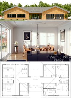 House Plans & Home Plans House Layout Plans, Dream House Plans, Small House Plans, House Layouts, House Floor Plans, Modular Home Plans, Modular Homes, Model House Plan, Casas Containers