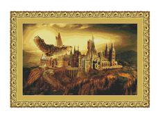 SALE half price cross stitch pattern Hogwarts Scool ,Instant download PDF…