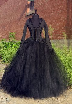 Bellatrix Lestrange Costume Skirt  Full length black tulle skirt for Harry…