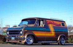 """""""Sun Dance"""" Custom 70's Ford van..vk"""