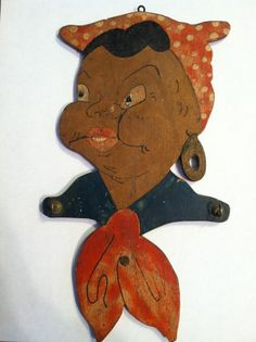Black Americana Mammy Wooden Wall Hanging