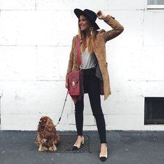 #VeronicaFerraro Veronica Ferraro: Happy to be back in Milan w/ my baby @amelia_cavalier ❤️   bag @furla jacket @mango shirt @falconeriofficial