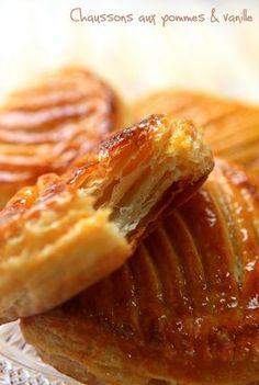 Chaussons aux pommes, raisins secs et vanille - Rdv Aux Mignardises chez Mouni