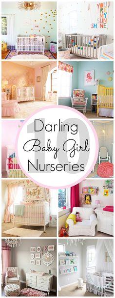 10 Darling Baby Girl Nursery Ideas - www.classyclutter.net