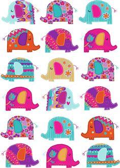 Genine Delahaye #elephant #nursery #prints