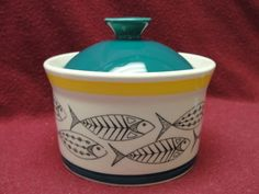 STAVANGERFLINT CHINA - FISH PATTERN - SUGAR BOWL Sugar Bowls, Cool Fish, Paint Your Own Pottery, Fish Fish, Fish Patterns, Fish Design, Pottery Designs, Vintage China, Teacups