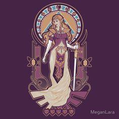"""Zelda Nouveau"" T-Shirts & Hoodies by MeganLara | Redbubble"