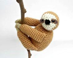 Sloth Plush, Sloth Amigurumi, Sloth Stuffed Animal von Crochetonatree auf DaWanda.com