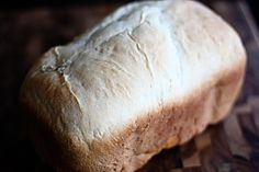 Favorite Bread Machine Sourdough Loaf  By far, the BEST recipe I've tried yet! I brush with olive oil if I bake in the oven. I also sometimes substitute olive oil for the butter in the recipe...
