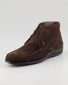 Suede Ankle Boot by Tod\'s at Bergdorf Goodman.