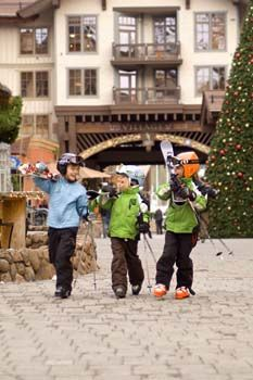 Kids love to ski and snowboard at Squaw Valley