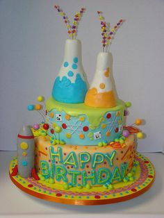 The perfect Mad Science party cake