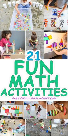 21 Fast & Easy Math Activities – HAPPY TODDLER PLAYTIME