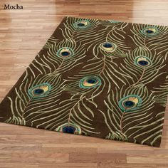 Peacock Feathers Area Rugs