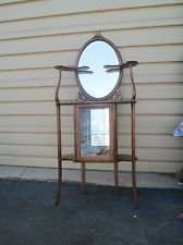 Antique Victorian Whatnot Knick Knack Shelf Curio Wall Cabinet ...