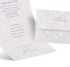 lavender rose seal and send wedding invitation | cheap wedding invites at Ann's Bridal Bargains