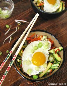 Korean Bibimbap with Quinoa