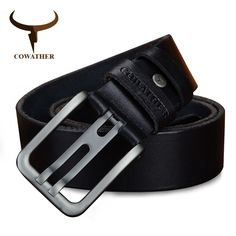 Genuine Leather Alloy Pin Buckle Belt For Men. Available Colors - Black, Coffee, Brown //Price: $25.25 & FREE Shipping //     #ChicBay.com