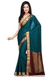 Dark Royal Blue Pure Mysore Silk Saree with Blouse