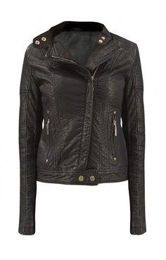 Γυναικείο μπουφάν απο δερματίνη MPOU-1394 | Nέες Παραλαβές > Μαύρο Leather Jacket, Jackets, Fashion, Studded Leather Jacket, Down Jackets, Moda, Leather Jackets, Fashion Styles, Fashion Illustrations