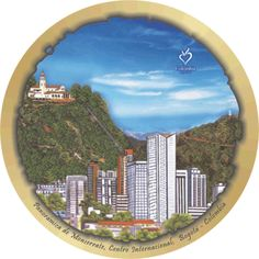 Panoramica de Bogotá Decoupage, Tableware, Tourism, Colombia, Culture, Scenery, Dinnerware, Tablewares, Dishes