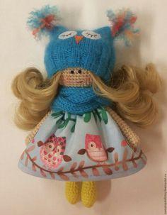 Купить Вязаная кукла - Софочка - тёмно-бирюзовый, крючком, вязаная игрушка, подарок