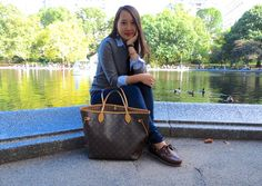 """Central Park Adventures""  #ootd #lookoftheday #wiw #fashion #fallfashion #fashionista #fashionblogger #tumblr #style #streetstyle #preppystyle #preppy #layers #loft #timberland #boatshoes"