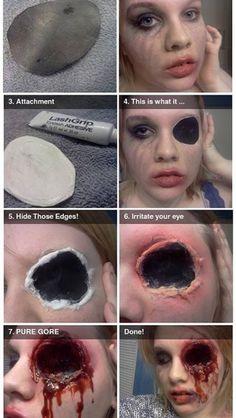 Zombie makeup...but for Jordan