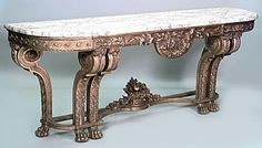 French Louis XVI table console table gilt