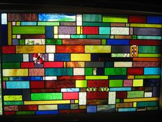 Beautiful - stained glass outdoor or indoor colorful panel by stanfordglassshop in Chicago