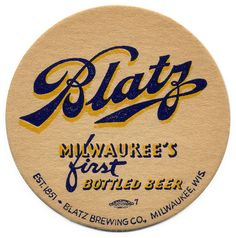 Milwaukee's First Bottled Beer