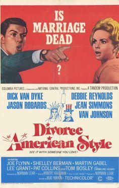 Divorce American Style Dick Van Dyke, Debbie Reynolds and Jason Robards 1967