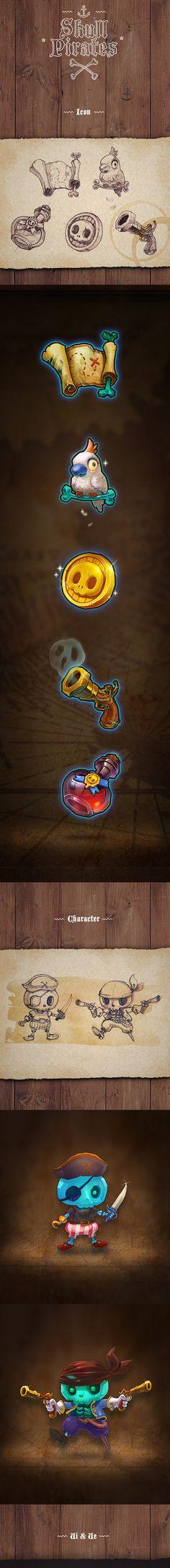 Skull Pirates Icon/UI/UX on Behance