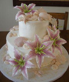 Beach Theme Wedding Cakes | Beach Themed Wedding Cake | Flickr - Photo Sharing!