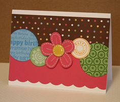 Polka Dot Birthday. Cute, graphic, like the embroidery on the flower
