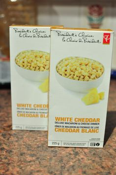 president's choice white cheddar mac&cheese