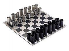 Stainless Steel Chess Set / philippi / Flip Design