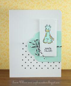 so cute baby card