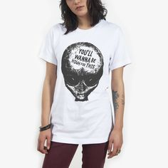 420 Friendly Alien Bro Tee Black on White – Killer Condo