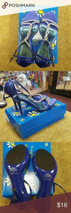 Blue satin Heels Blue Satin Heels De Blossom Collection Shoes Heels