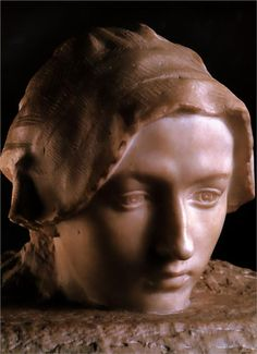 'Thought' (Camille Claudel) by Auguste Rodin.  Lovely, private expression.