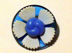 Your place to buy and sell all things handmade Flower Button, Cool Buttons, Daisy, Bright, Turquoise, Handmade, Blue, Stuff To Buy, Color