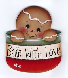 "HP GINGERBREAD ""Bake With Love"" FRIDGE MAGNET"
