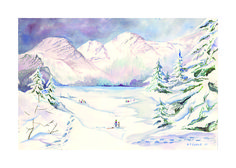 Snow Dreams - the Snow Dreams image (snowy mountains) won a national award and was used on Ronald McDonald Charities Christmas cards and distribued all over Canada in all London Drugs. This watercolour Limited Edition Print is available. Contact gcurrie@eldoren.com or visit www.gordoncurrieart.com