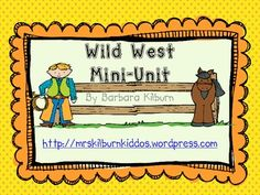 This free mini-unit with colorful emergent reader. Preschool Themes, Classroom Themes, Preschool Crafts, Fun Activities, Cowboy Theme, Western Theme, Wild West Theme, Texas Western, Wild West Cowboys