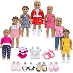 Howona 18 inch Doll Clothes Gift for Girls Include 7 Set Toys Doll Outfits  2 Pairs Shoes Accessories fit for American Girl Dolls   For more  information abdd449dd8c2